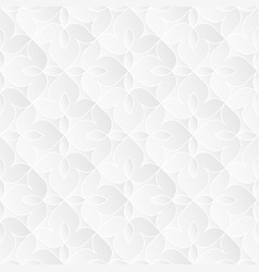 neutral white floral texture vector image