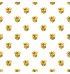 Open empty cardboard pattern vector