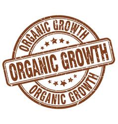 organic growth brown grunge stamp vector image