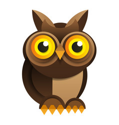 owl on white background for your design vector image