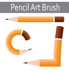 Pencil icon art brush vector