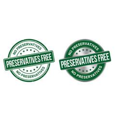 Preservatives free grunge stamp and label vector