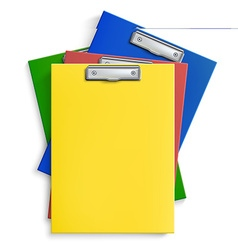 Realistic clipboards vector image