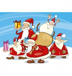 Santa Claus group vector image