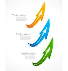 Set of color arrows vector