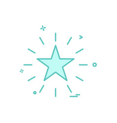 star shine design icon vector image