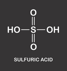 sulfuric acid formula vector image