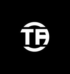 ta logo monogram isolated on circle element vector image