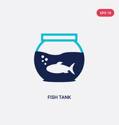 two color fish tank icon from free time concept vector image