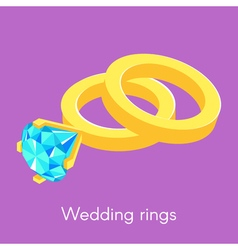 two isometric wedding rings vector image