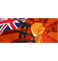 uk united kingdom england war propaganda hand fist vector image