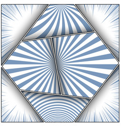 vintage monochrome light frames composition vector image