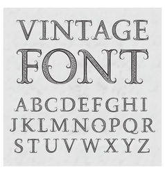 Vintage patterned letters Vintage font in floral vector