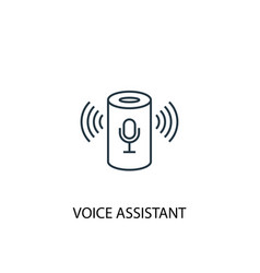 voice assistant concept line icon simple element vector image
