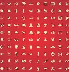 100 fashion icons vector image