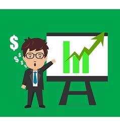 Business man characters presentation plan graph vector image vector image