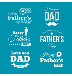 fathers day logo vector image vector image
