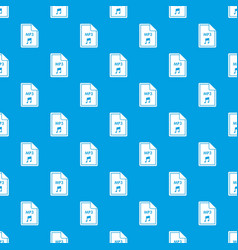 file mp3 pattern seamless blue vector image