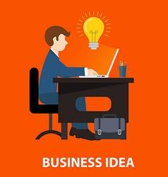 Flat design concepts for big idea marketing vector image