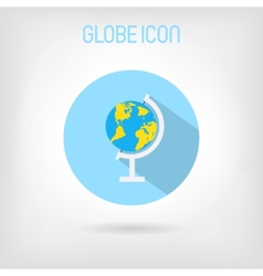 Flat-styled school globe icon vector image vector image