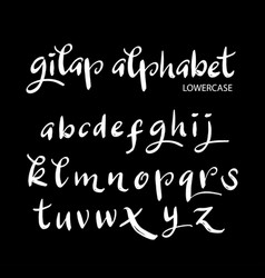 gilap alphabet typography vector image vector image