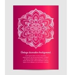 Invitation with hand drawn mandala vector image vector image