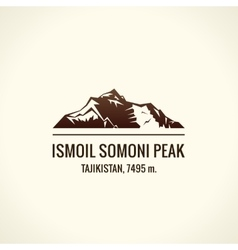 Mountain tourist logo Emblem Mount vector image