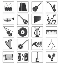 Music Instrument Icons Set vector image vector image