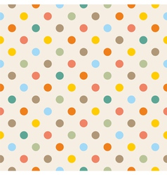 Seamless colorful polka dots pattern vector image vector image