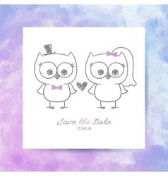 wedding owls vector image vector image