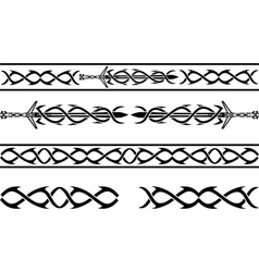 Fantasy vikings pattern vector