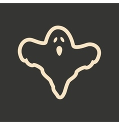 Flat in black and white mobile application ghost vector image vector image