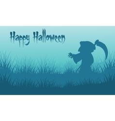 Happy Halloween warlock backgrounds silhouette vector image vector image