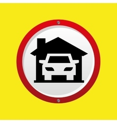 insurance car home icon vector image