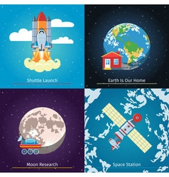 Space Theme Banners vector image vector image