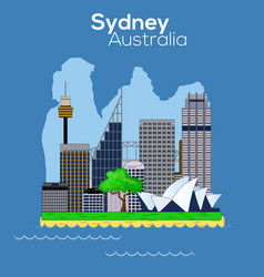 sydney city icon vector image