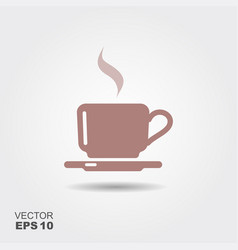 flat icon of a coffee cup vector image