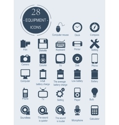 Icons with electronic devices vector image