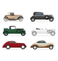 old retro car 06 vector image