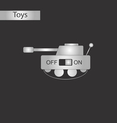black and white style toy tank vector image