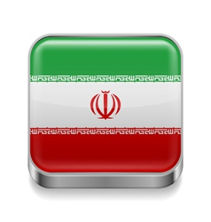 Metal icon of Iran vector image vector image