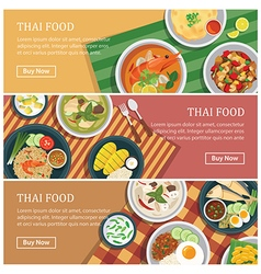 Thai food web bannerthai street food coupon vector
