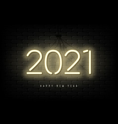 2021 new year neon banner vector image