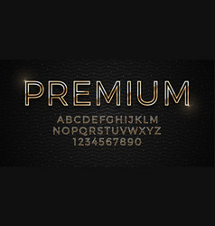 3d elegant premium golden font on dark luxury vector image