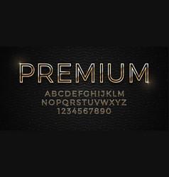 3d elegant premium golden font on dark luxury vector image