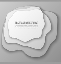 abstract background with white paper cut layered vector image
