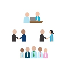 Abstract people character in social business vector