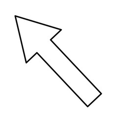 arrow cursor symbol vector image