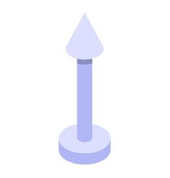 Arrow piercing icon isometric style vector