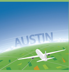 Austin flight destination vector